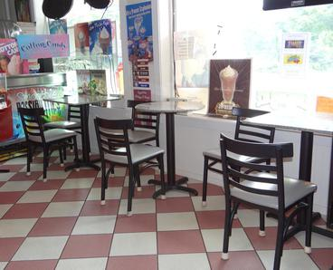 Have a seat at Pat's Main Street Ice Cream